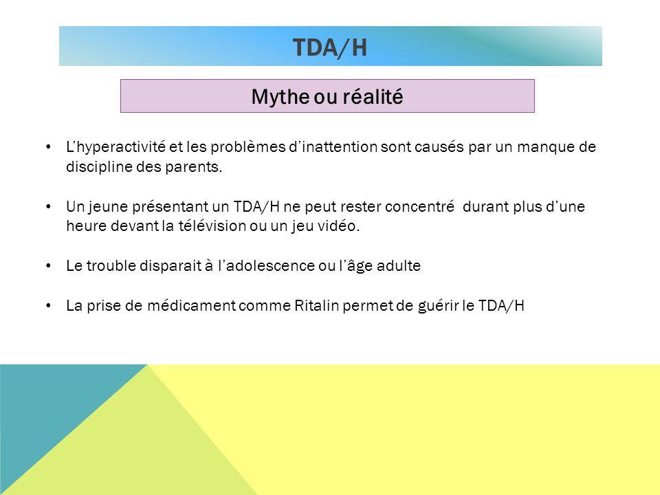 TDA/H Mythe ou réalité. L'hyperactivité et les problèmes d'inattention sont causés par un manque de discipline des parents.
