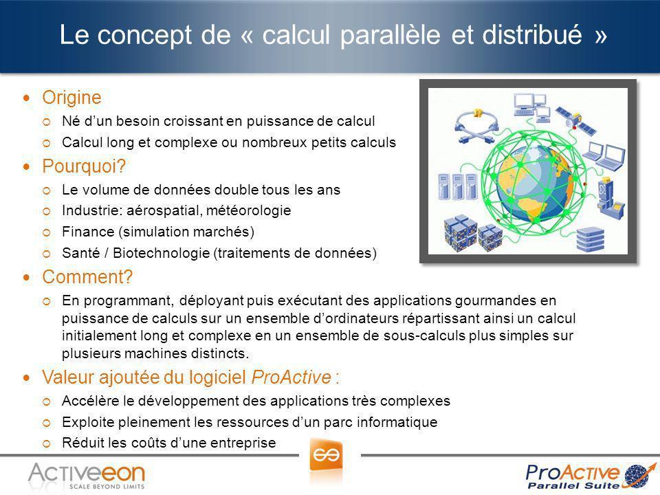 Le concept de « calcul parallèle et distribué »