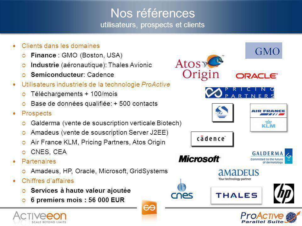 Nos références utilisateurs, prospects et clients