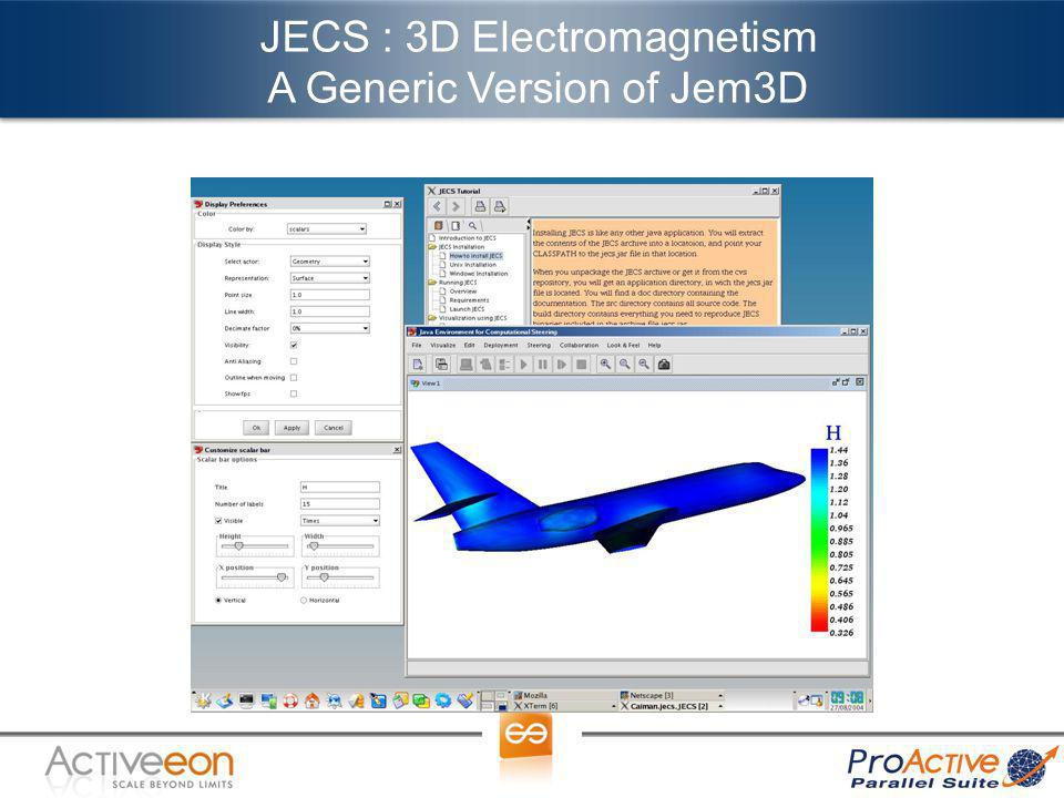 JECS : 3D Electromagnetism A Generic Version of Jem3D