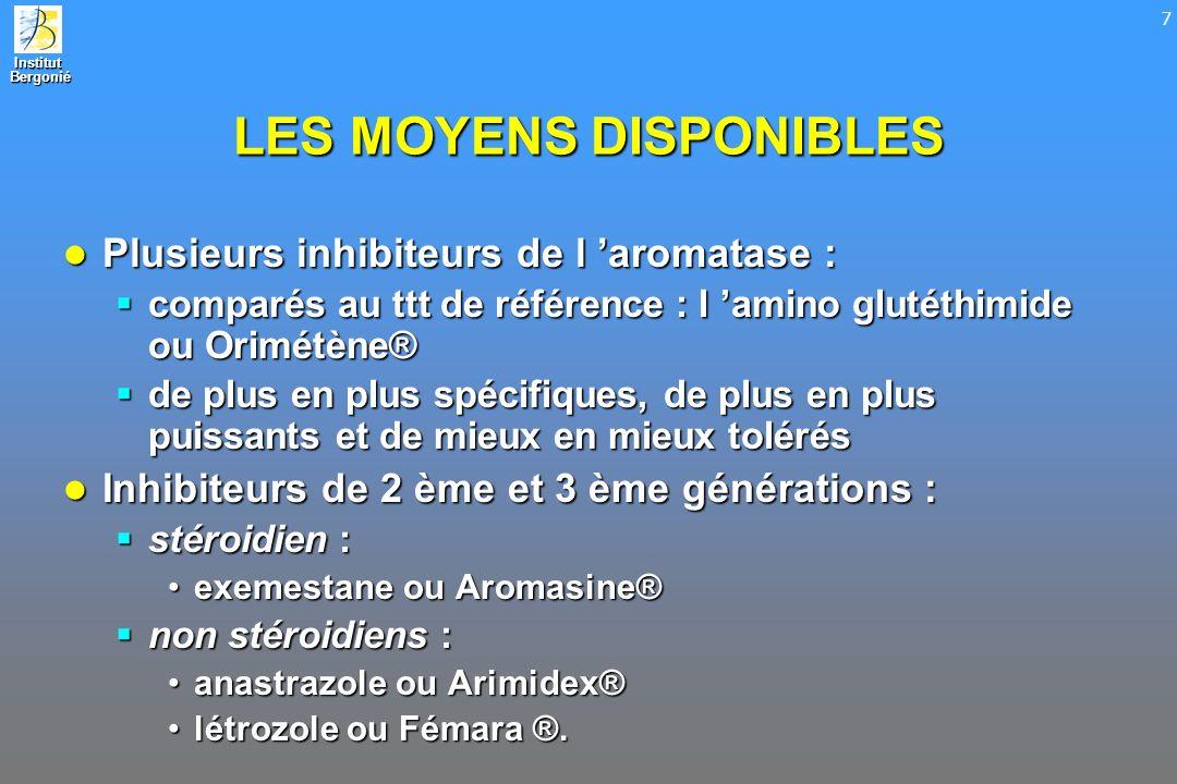 LES MOYENS DISPONIBLES