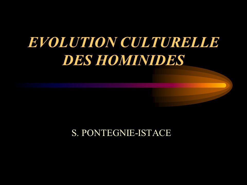 EVOLUTION CULTURELLE DES HOMINIDES