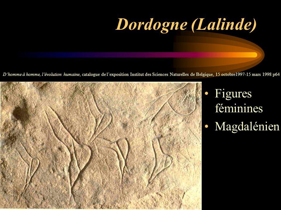 Dordogne (Lalinde) Figures féminines Magdalénien