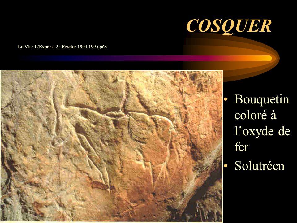 COSQUER Bouquetin coloré à l'oxyde de fer Solutréen