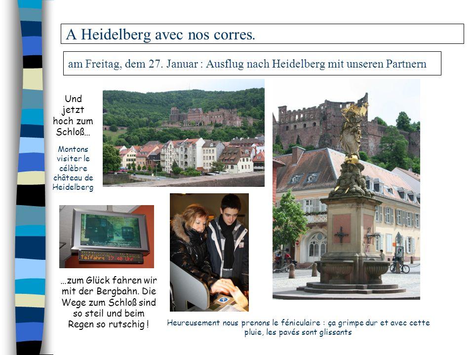 A Heidelberg avec nos corres.