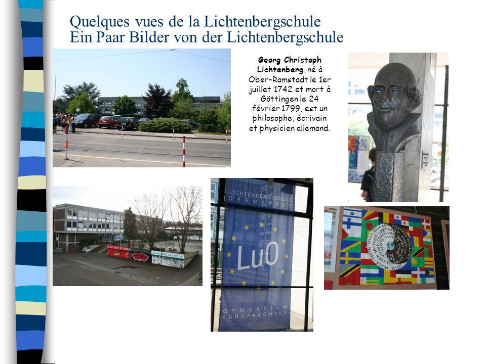 Quelques vues de la Lichtenbergschule Ein Paar Bilder von der Lichtenbergschule