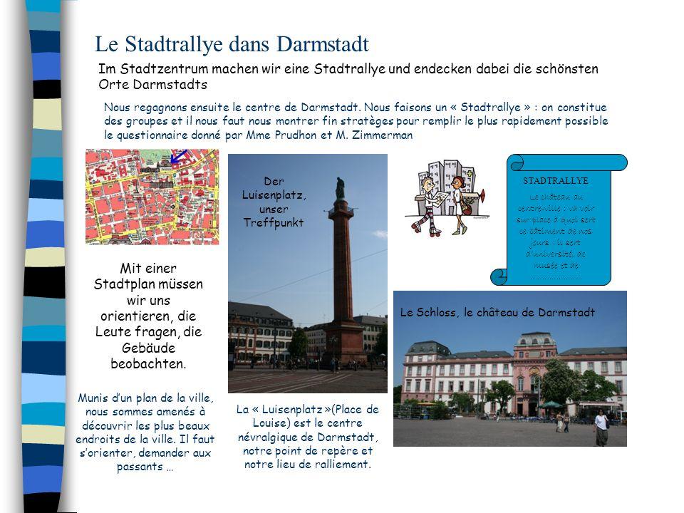 Le Stadtrallye dans Darmstadt