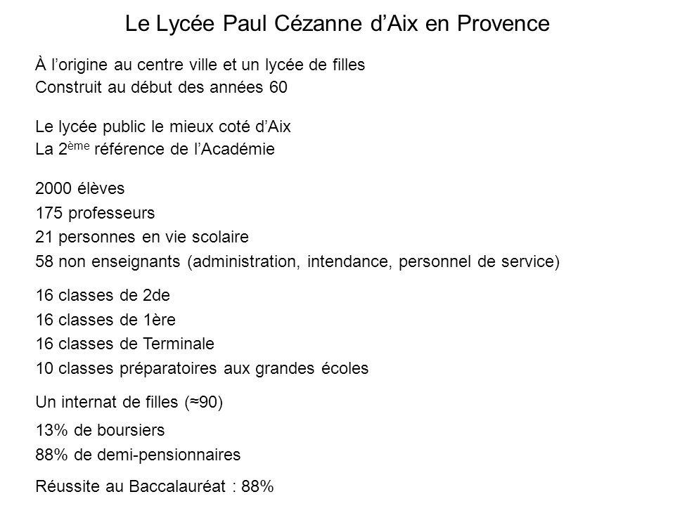 Le Lycée Paul Cézanne d'Aix en Provence