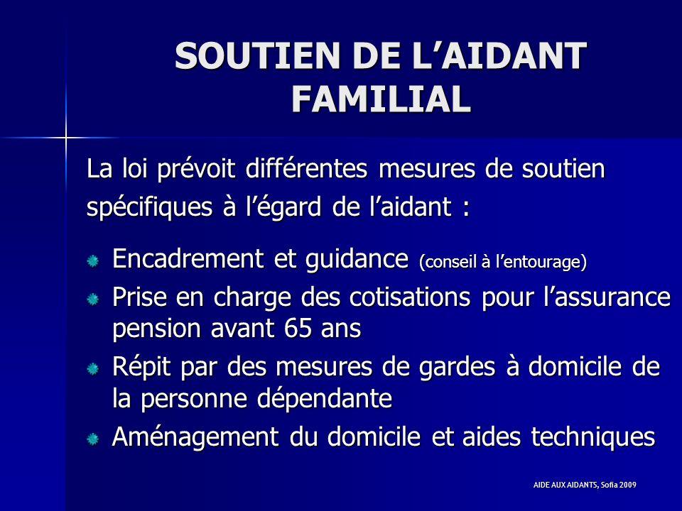SOUTIEN DE L'AIDANT FAMILIAL