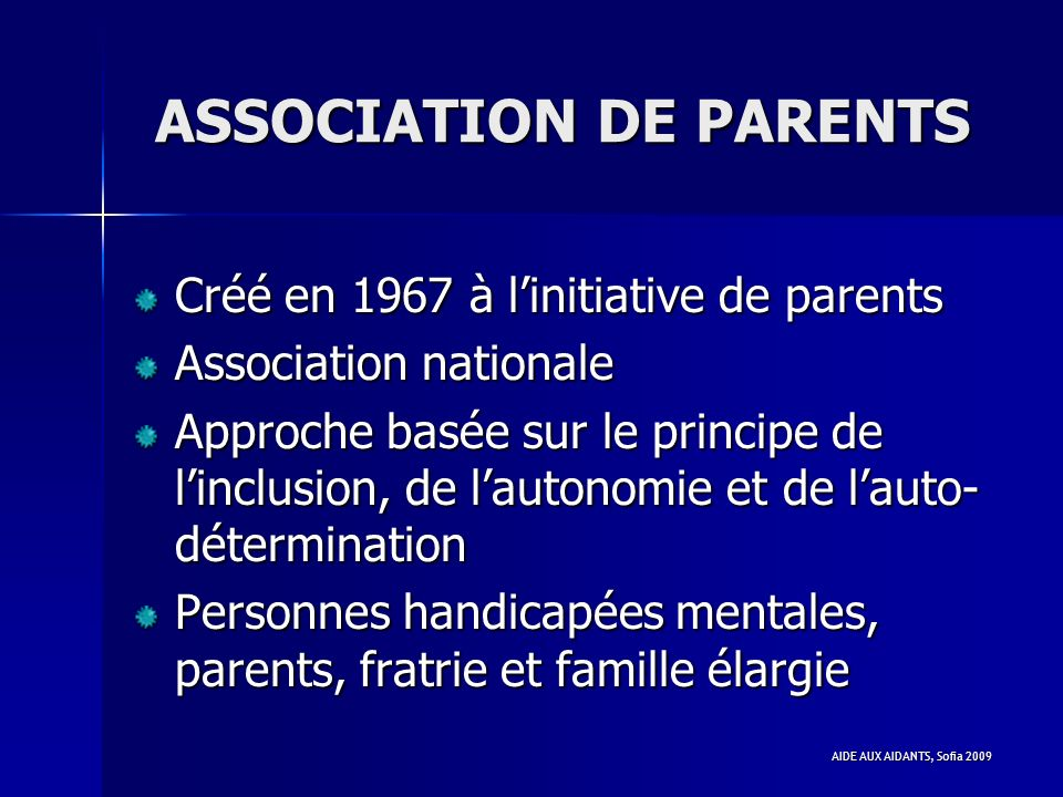 ASSOCIATION DE PARENTS