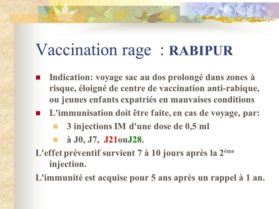 Vaccination rage : RABIPUR