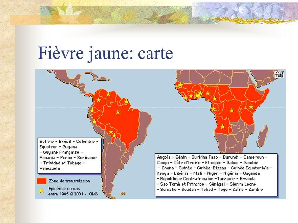 Fièvre jaune: carte