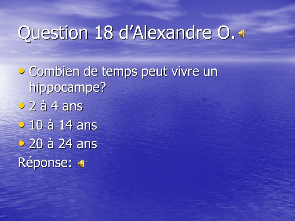 Question 18 d'Alexandre O.
