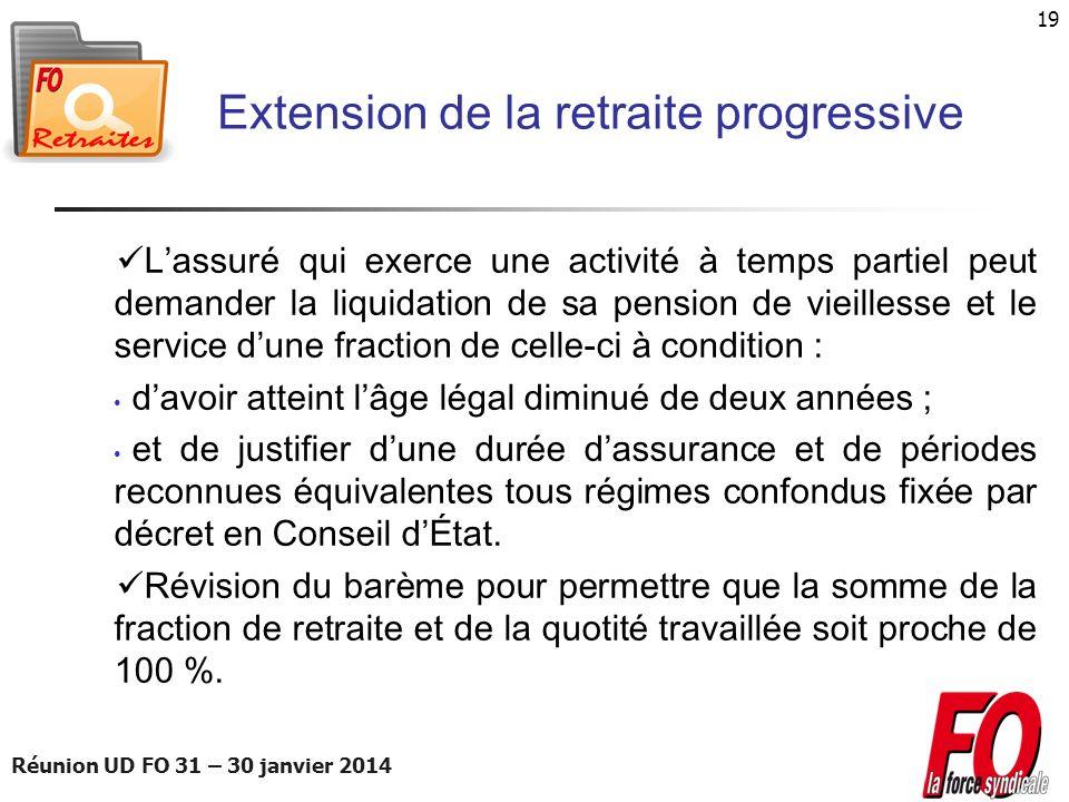 Extension de la retraite progressive