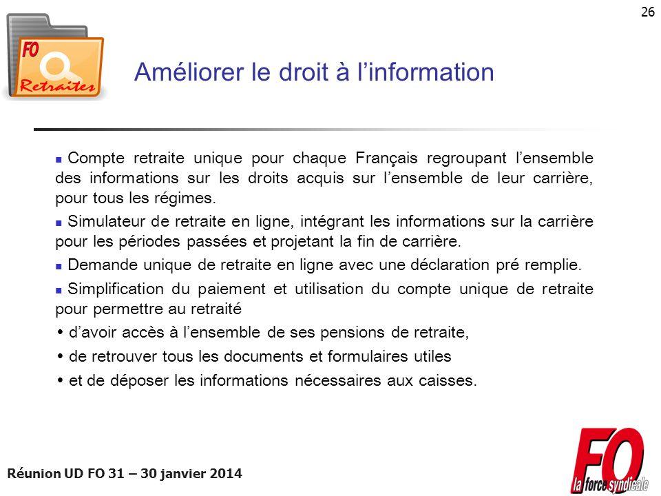 Améliorer le droit à l'information