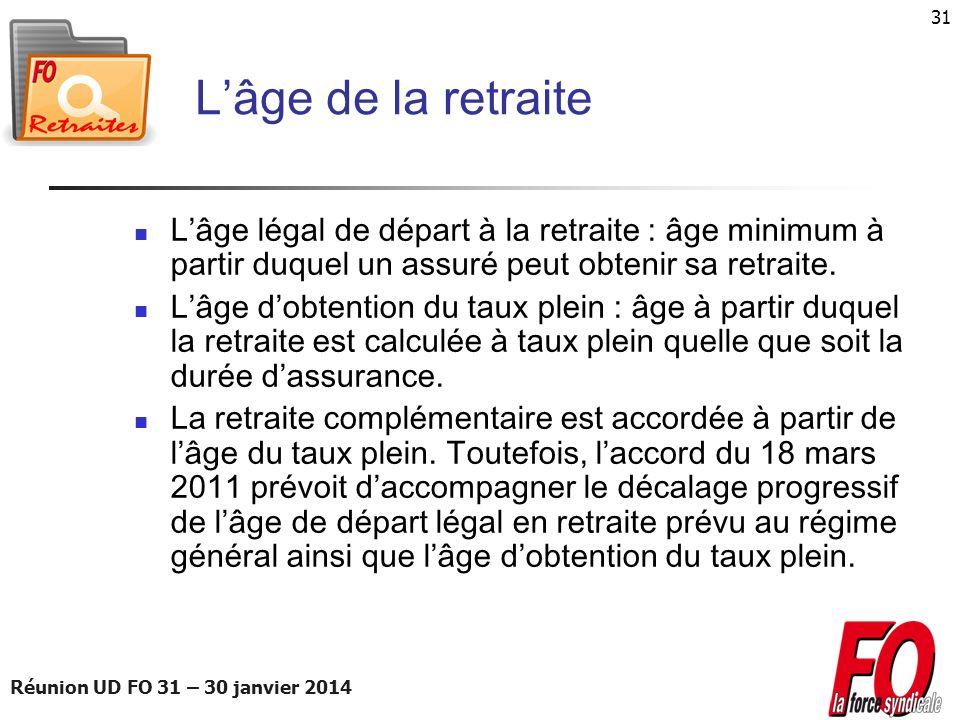 L'âge de la retraite L'âge légal de départ à la retraite : âge minimum à partir duquel un assuré peut obtenir sa retraite.