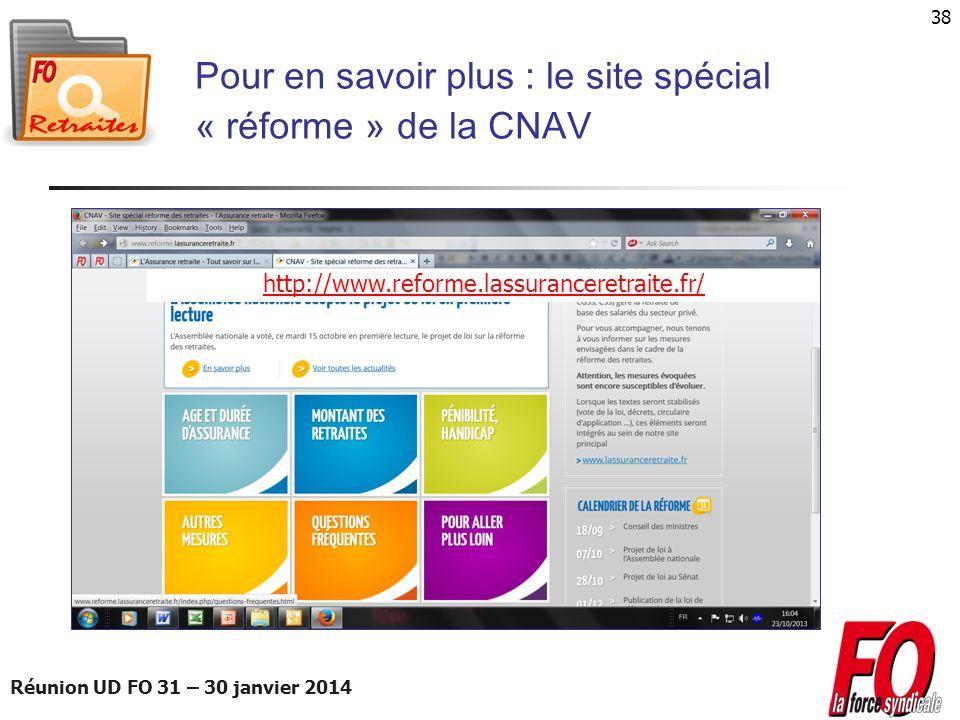 Pour en savoir plus : le site spécial « réforme » de la CNAV