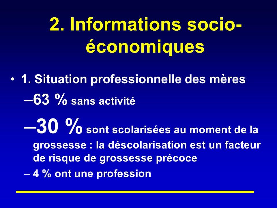 2. Informations socio-économiques
