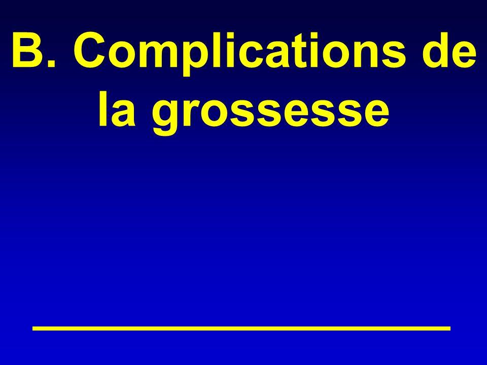 B. Complications de la grossesse