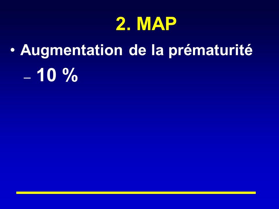 2. MAP Augmentation de la prématurité 10 %