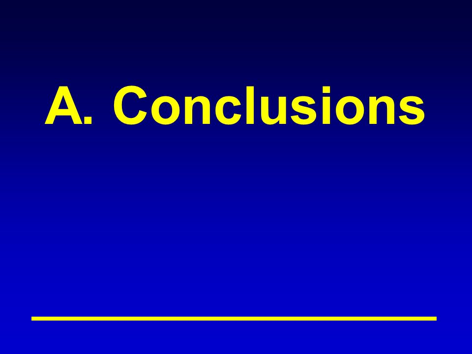 A. Conclusions