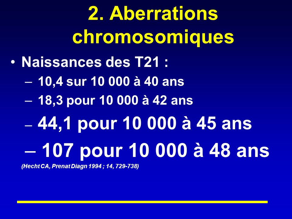 2. Aberrations chromosomiques