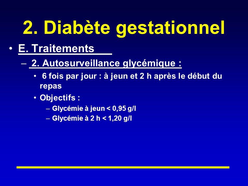 2. Diabète gestationnel E. Traitements