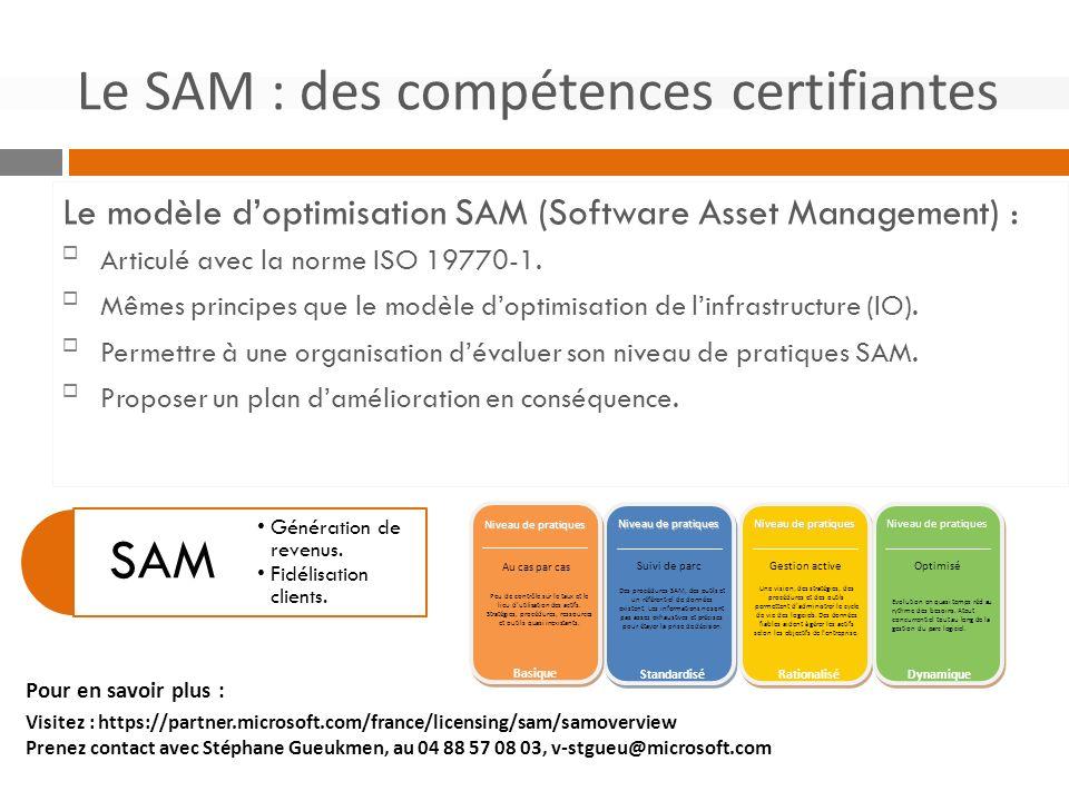Le SAM : des compétences certifiantes