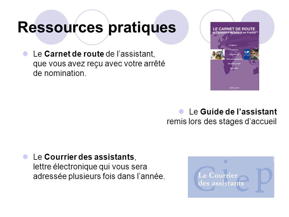 Ressources pratiques Le Carnet de route de l'assistant,