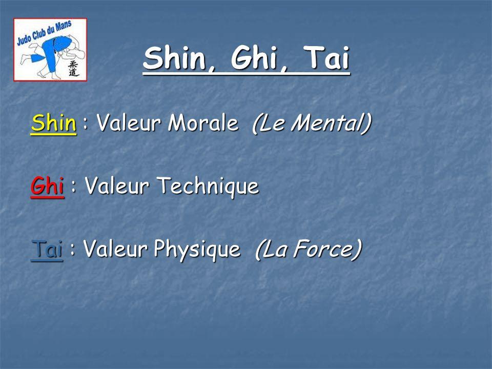 Shin, Ghi, Tai Shin : Valeur Morale (Le Mental) Ghi : Valeur Technique
