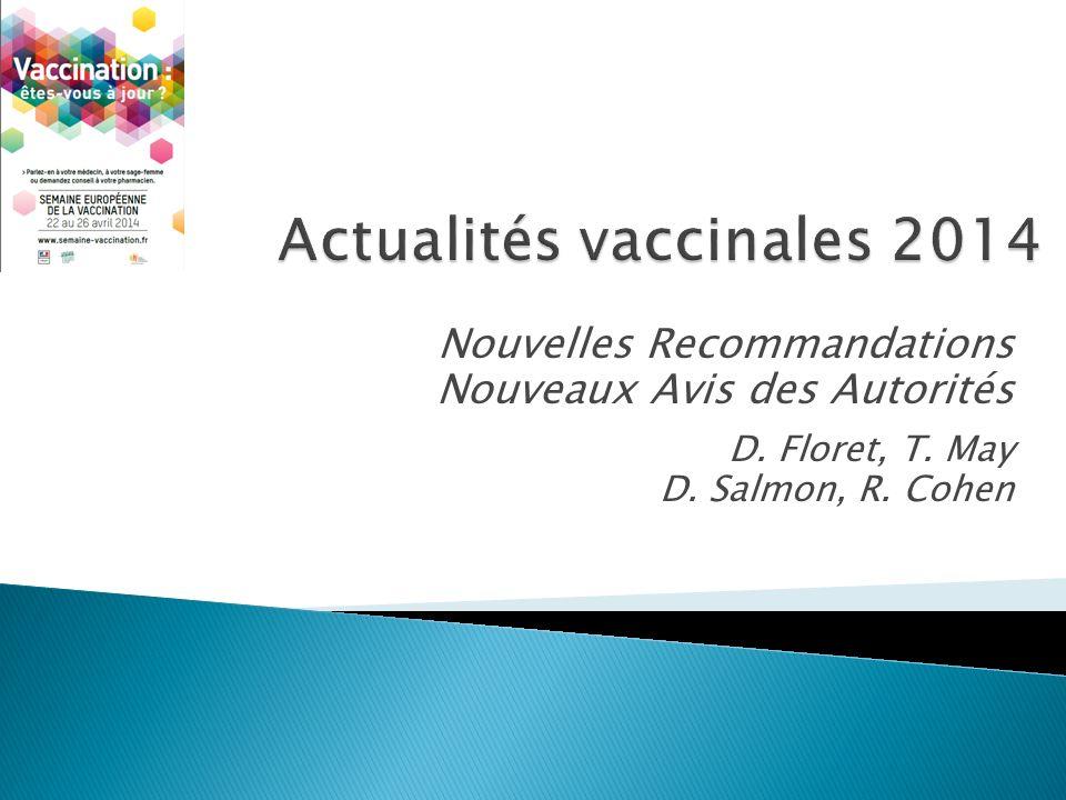 Actualités vaccinales 2014