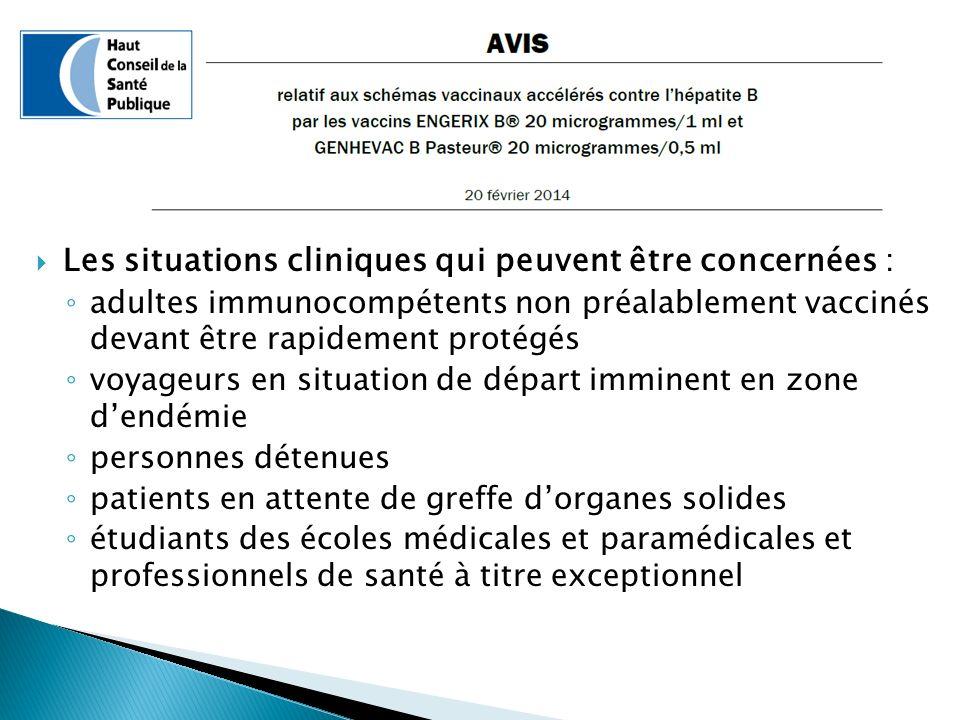 Les situations cliniques qui peuvent être concernées :