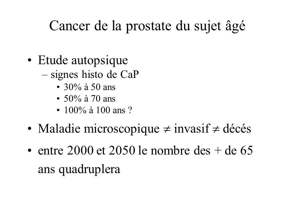Cancer de la prostate du sujet âgé