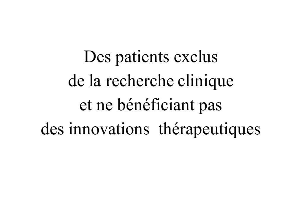 de la recherche clinique et ne bénéficiant pas