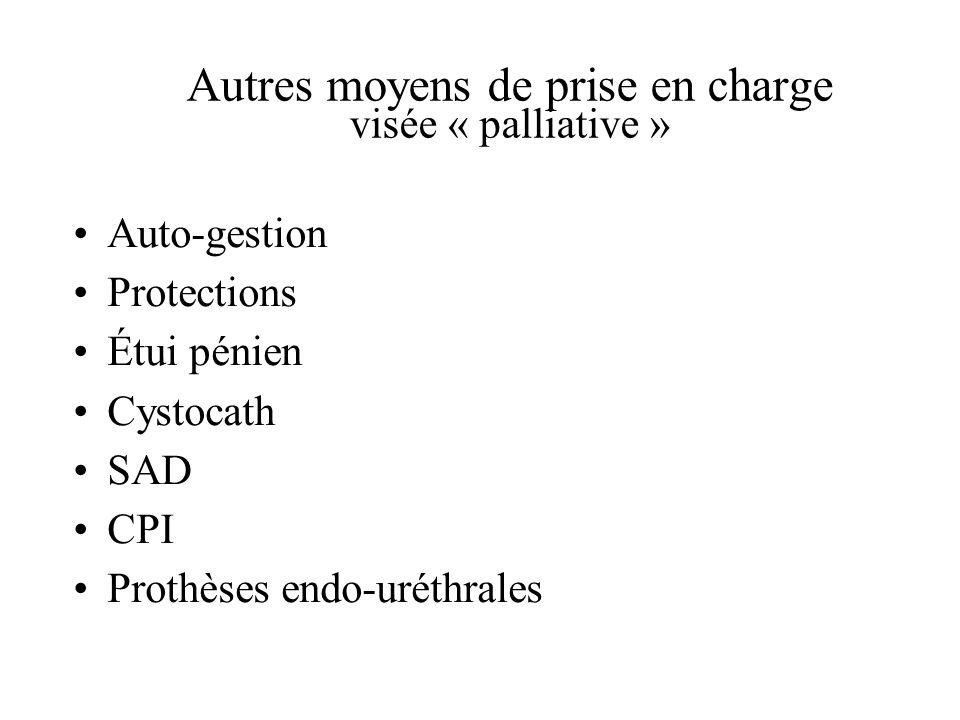 Autres moyens de prise en charge visée « palliative »