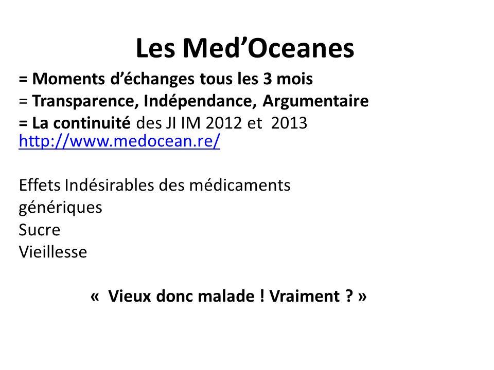 Les Med'Oceanes = Moments d'échanges tous les 3 mois