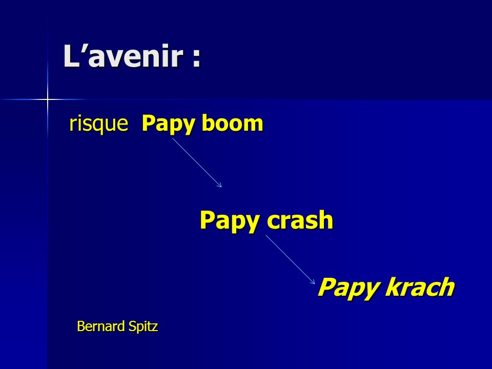 L'avenir : risque Papy boom Papy crash Papy krach Bernard Spitz