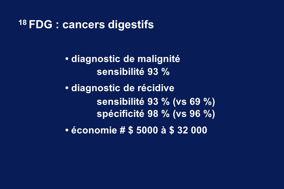 18 FDG : cancers digestifs