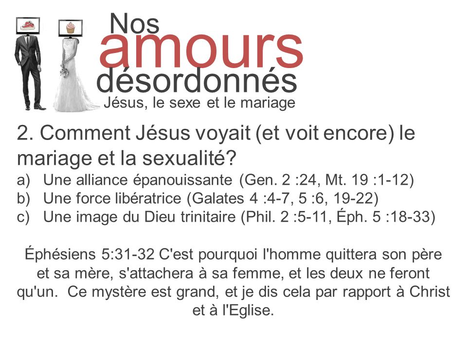 Jésus, le sexe et le mariage