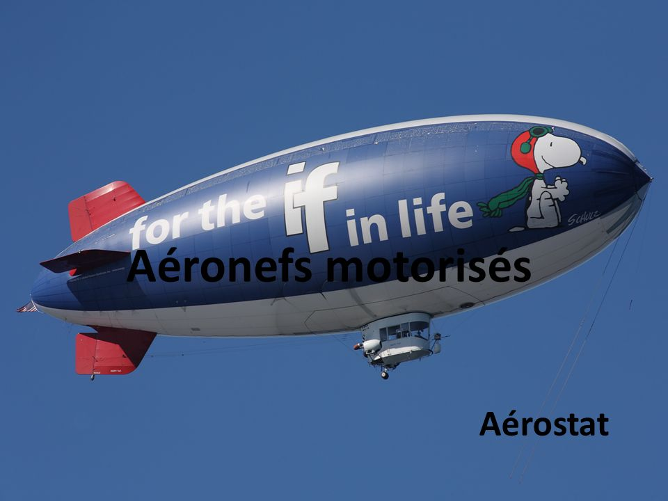 Aéronefs motorisés Aérostat