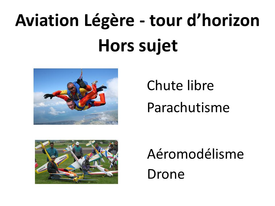 Aviation Légère - tour d'horizon