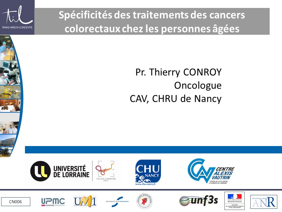 CANCER COLORECTAL = MALADIE DU VIEILLISSEMENT