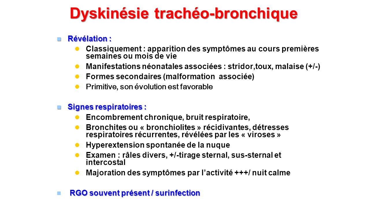 Dyskinésie trachéo-bronchique