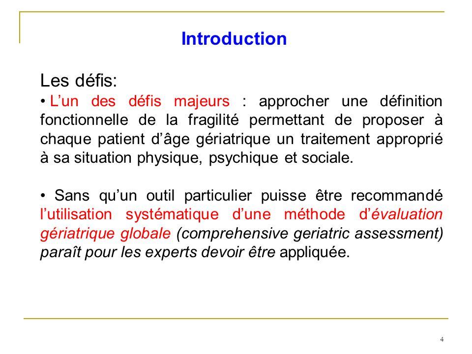 Introduction Les défis: