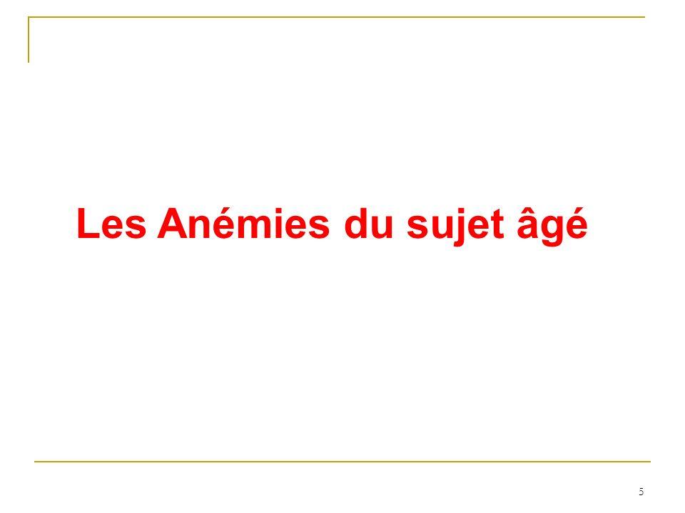 Les Anémies du sujet âgé