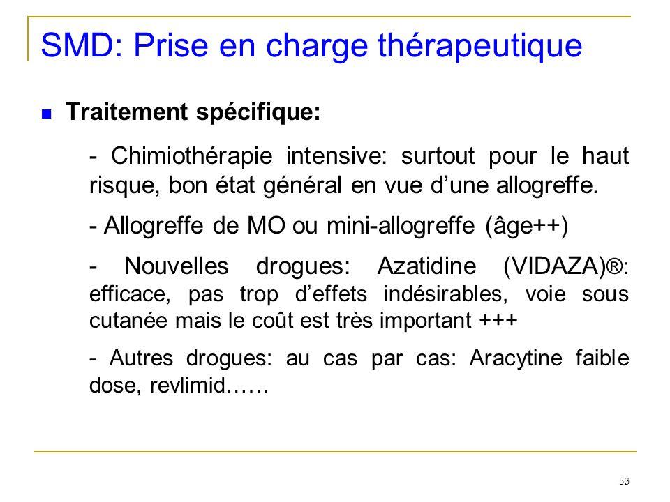 SMD: Prise en charge thérapeutique