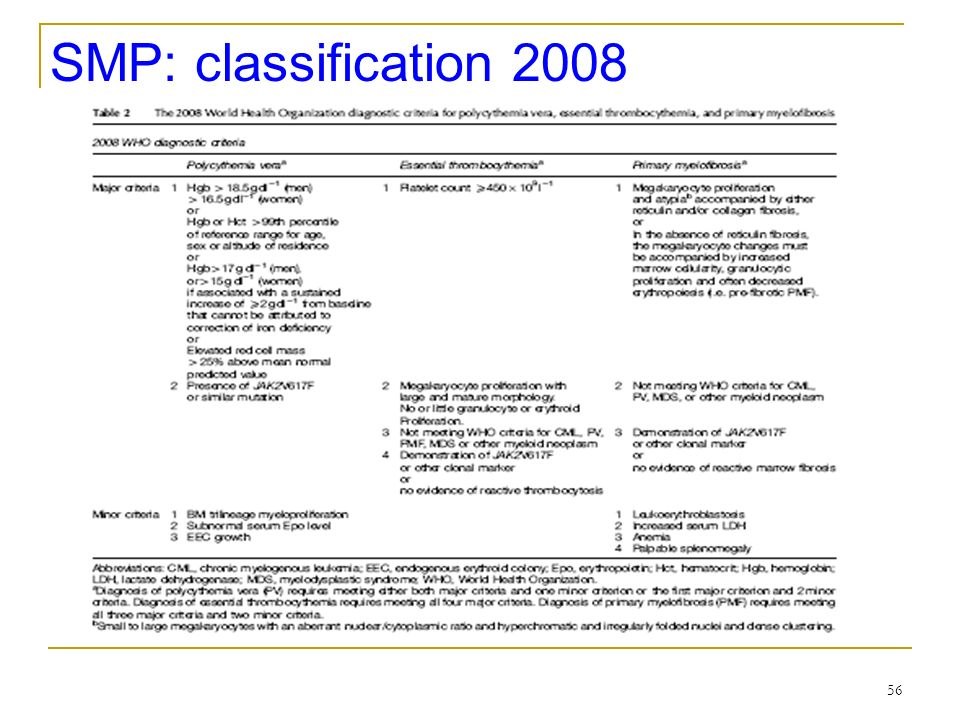 SMP: classification 2008