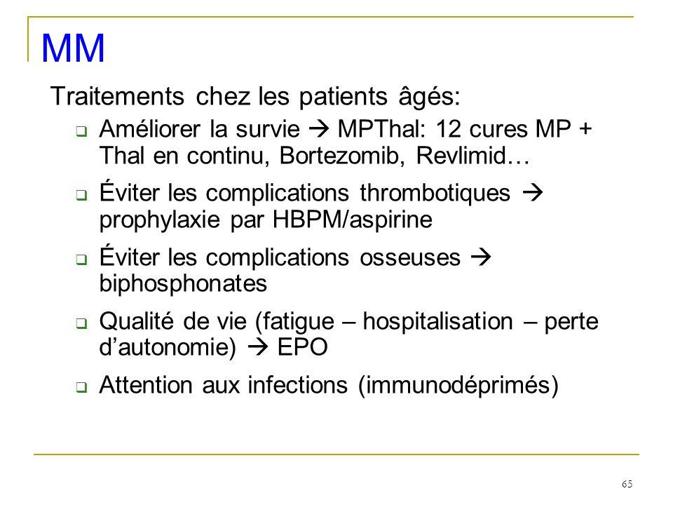 MM Traitements chez les patients âgés: