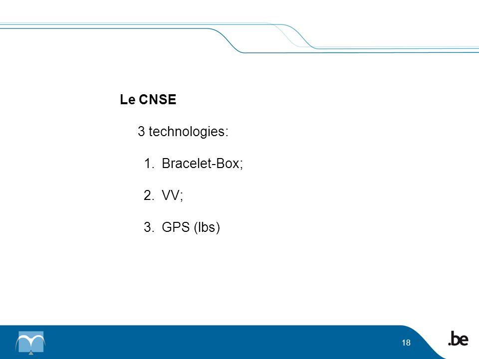 Le CNSE 3 technologies: Bracelet-Box; VV; GPS (lbs)