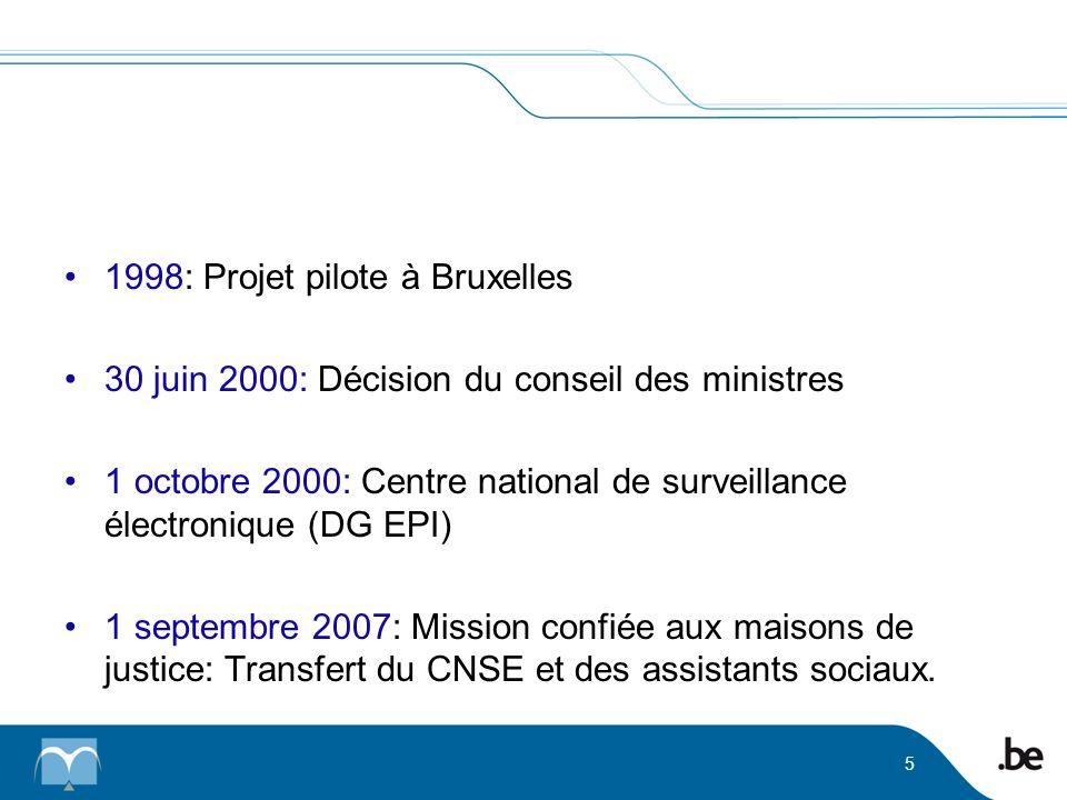 1998: Projet pilote à Bruxelles